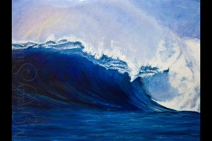 "The Wave 30""x40"" Oil On Canvas 090701-0"