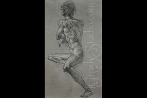 "Reproduction Of A Masters 18""x25"" Charcoal on Paper 091101-0"