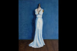 "Wedding Dress 16""x20"" Oil On Canvas 100301-0"