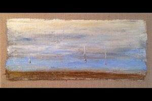 Sailing_Oil On Burlap_140805